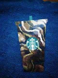 Starbucks UK GB brown Frap card