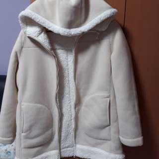 UNIQLO BRAND NEW pile-lined fleece long jacket with hoodie