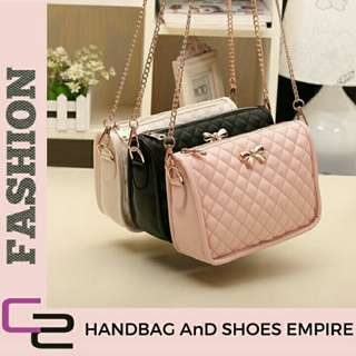 Handbag Sweet ribbon sling bag free gift free pos
