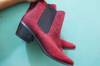 Red Suede Boots (TOPSHOP)