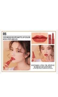 3CE #222 matte lipstick