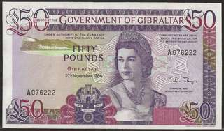 Gibraltar 50 Pound UNC