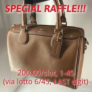 Paid RAFFLE Original COACH Mini Bennett Satchel