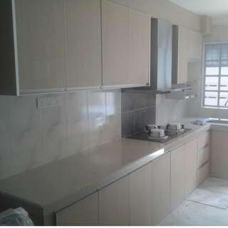 Kitchen Cabinet concrete table gaya sendiri