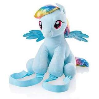 Rainbow Dash Little Pony plushie back pack