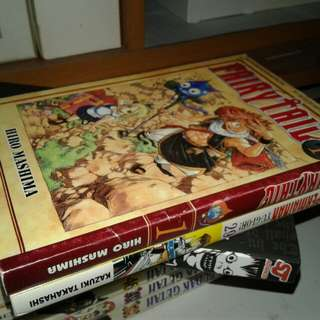 Fairy tail vol 1 cond 8/10 & yugioh NOS vol 29