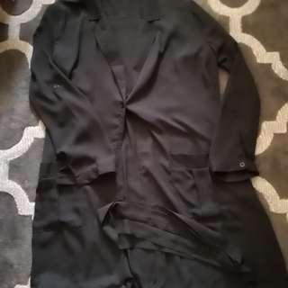Black Trench Coat ( Transparent)