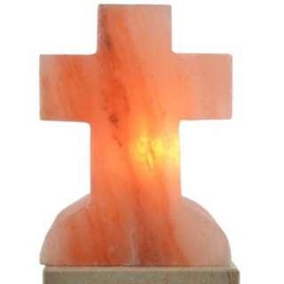 HIMALAYAN AUTHENTIC SALT CROSS SHAPE LAMP(cord+2 bulb includ