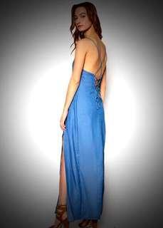 SOMETHING BORROWED Crossover Slit Maxi Dress