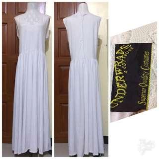 White maxi dress/ plus size