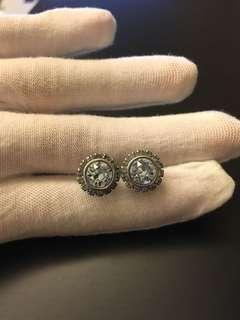 Ted Baker Sully crystal stud earrings in blue