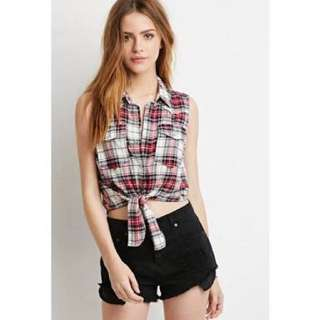 Forever21 tie down plaid