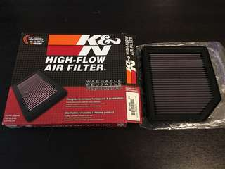 K&N air filter for Honda Stream RN6