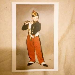 Manet馬奈~吹短笛的少年明信片~postcard