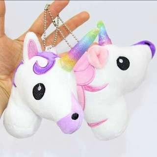 13*10cm Rainbow Unicorn Plush Keychain