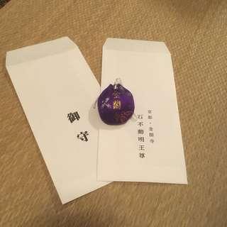 金運 紫色 御守 日本 京都 金閣寺