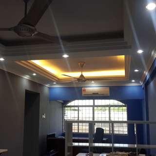 Membuat memasang plaster ceiling