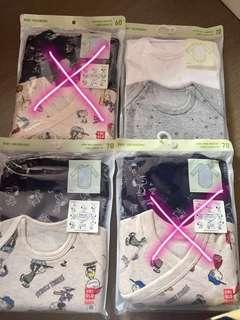 Uniqlo newborn bodysuits 初生和尚袍 初生夾衣 底衫