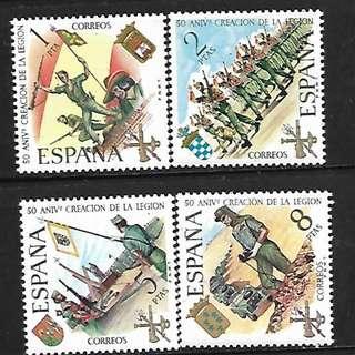 西班牙1971志願軍成立50年4全新