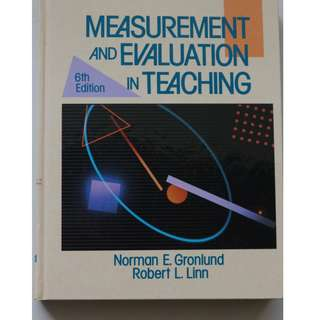 Measurement And Evaluation In Teaching