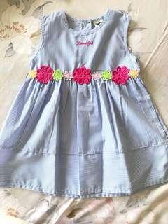 Dress Biru Garis