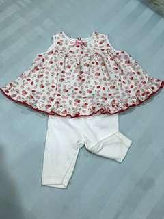Carter's Setelan Baju Strawberry