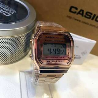 Casio Vintage Watch A168WG-Rose Gold