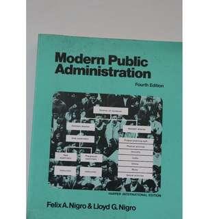 Modern Public Administration         Author : Felix A.Nigro & Lloyd G.Nigro