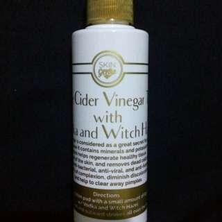 Skin Genie Apple Cider Vinegar Toner with Vodka and Witch Hazel