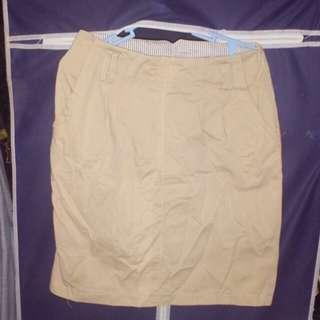 Khaki High waist Skirt