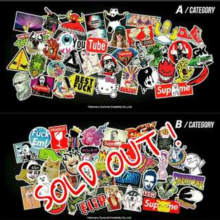 CHEAP DEALS !! High quality waterproof Graffiti Stickers for Pmds, motorcycles, cars, laptop, luggage, walls, and machineries