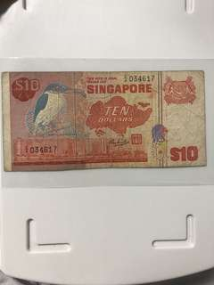 Replacement Z/4  Old Bird Series 10 Dollar Note
