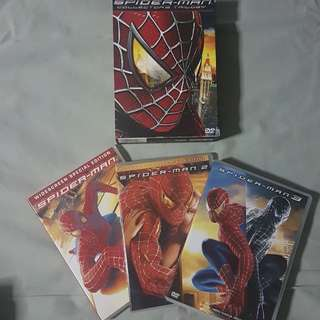 Tobey Maguire Spiderman Trilogy Original DVDs
