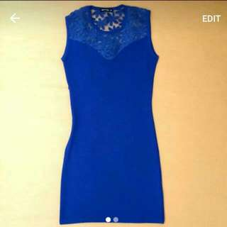 Body and Soul Electric Blue Bodycon Dress