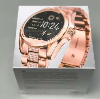 Mk smartwatch with stone in rosegold tone