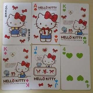 Hello kitty poker card