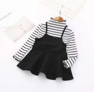 P/O toddler girl dress set