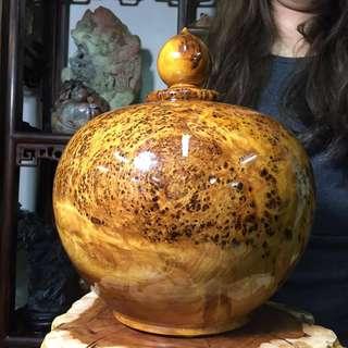 特選極品 越南 檜木瘤 土豆瘤 聚寶盆 天然美紋路 罕見大顆