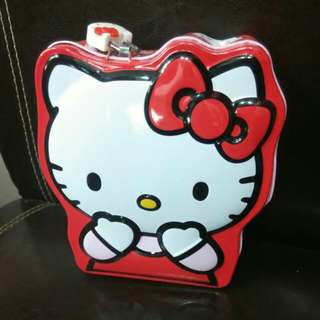Hello Kitty Coin Tin Case with Cute Lock
