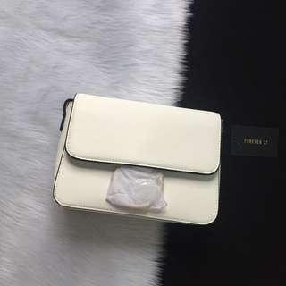 Forever 21 White Sling Bag
