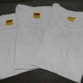 3 pcs. of Plain White Shirt