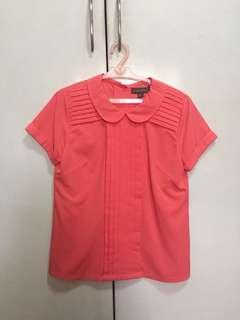 Plains&Prints coral blouse