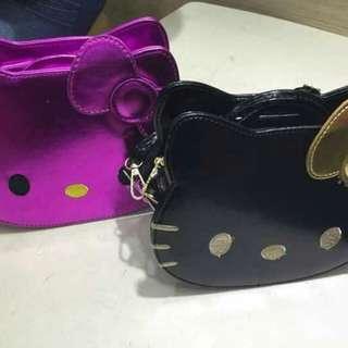 Hello Kitty face sling bag