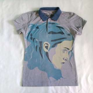 Graphic Collared Polo Shirt