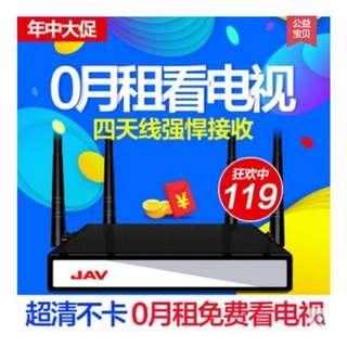 [全新連盒] JAV V8 TV box HDMI 網絡機頂盒 16Gb硬碟 4枝天線 Home media WiFi