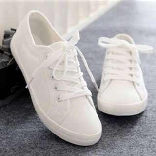 🈹韓風 超易襯 百搭白布鞋 size 245