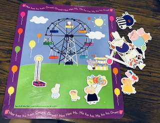 Peppa pig activity pack, magnetic create-a-scene theme park