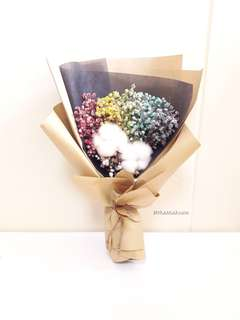 Dried Flower 🌼 Rainbow and Cotton Bouquet