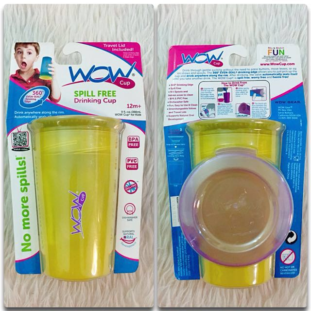 🎀 WOW Spill Free Drinking Cup / Sippy Cup 🎀