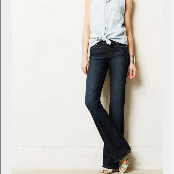 Anthropologie Paige Hidden Hills Flare Jeans/Wide Legs
